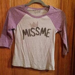 Miss Me 3/4 sleeve top, youth medium